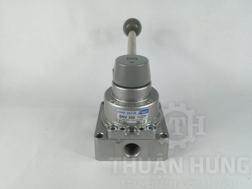 Cổng P của van gạt tay khí nén SKP SHV300-03