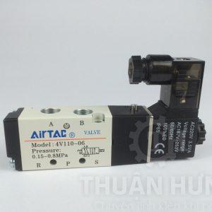 Cấu tạo mặt trước của van điện từ khí nén AIRTAC 4V110-06