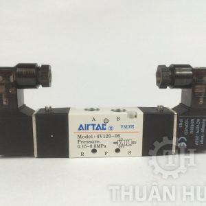 Mặt trước của van điện từ khí nén AIRTAC 4V120-06