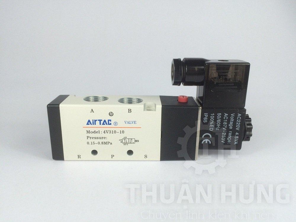 Cấu tạo mặt trước của van điện từ khí nén AIRTAC 4V310-10