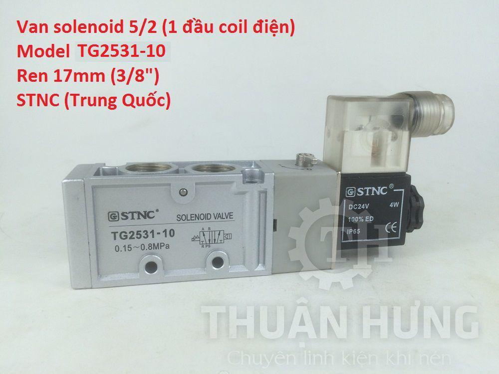 Van khí nén 5/2 1 đầu coil điện STNC