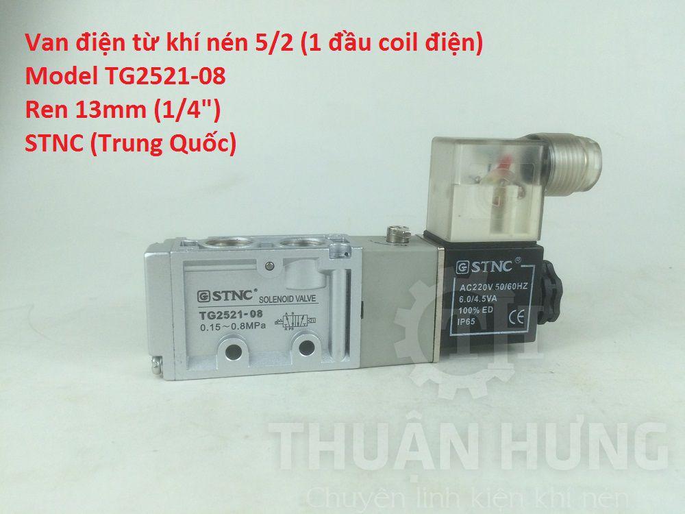 Van solenoid 5/2 1 đầu coil điện STNC